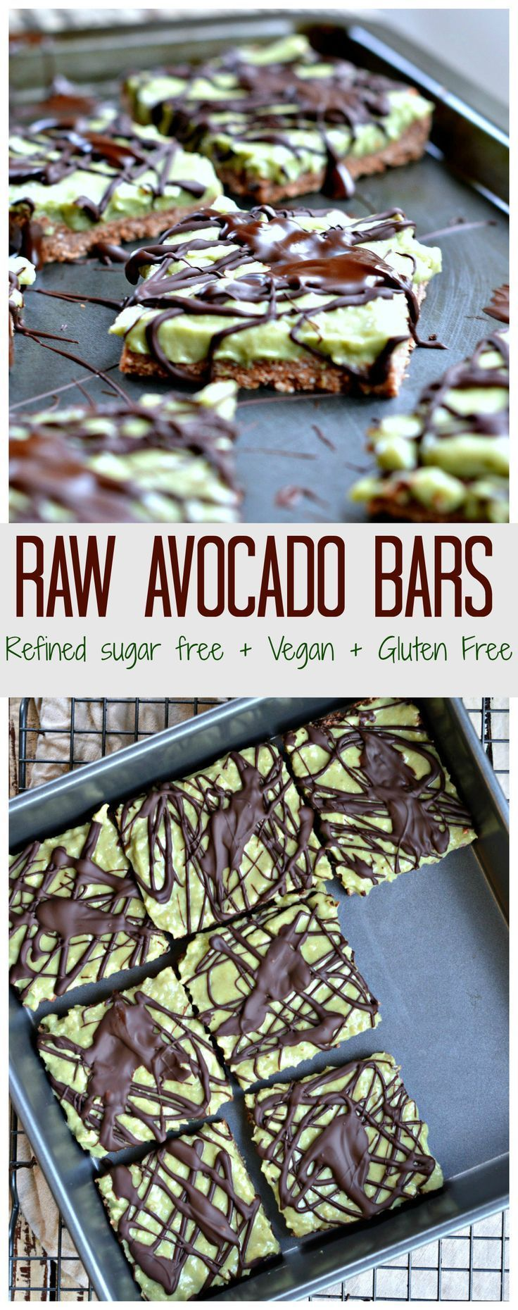 A Super heatlthy cookie bars with a lovely green colour perfect for Halloween ! Those bars are vegan, gluten free and do not contains added sugar naturally sweetened with banana only ! #raw #vegan #avocado #banana #bars #cookies #halloween