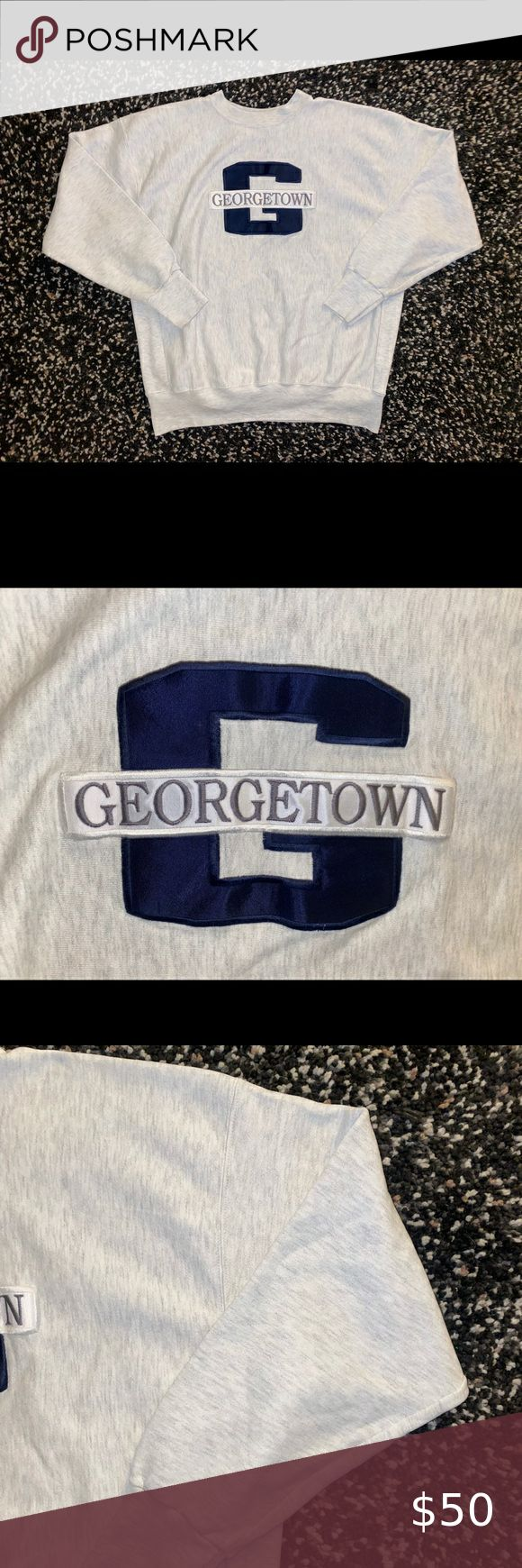 Vintage Georgetown Hoyas Crewneck Sweatshirt Xl Vintage Georgetown Hoyas Crewneck Sweatshirt Stitched Logo Me Crew Neck Sweatshirt Sweatshirts Sweatshirt Shirt [ 1740 x 580 Pixel ]
