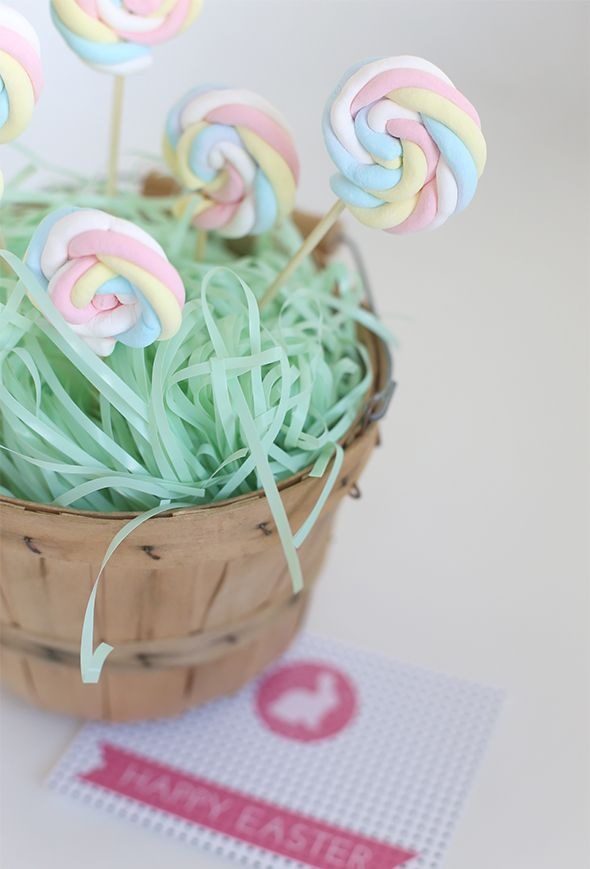 Easy Easter Marshmallow Pops