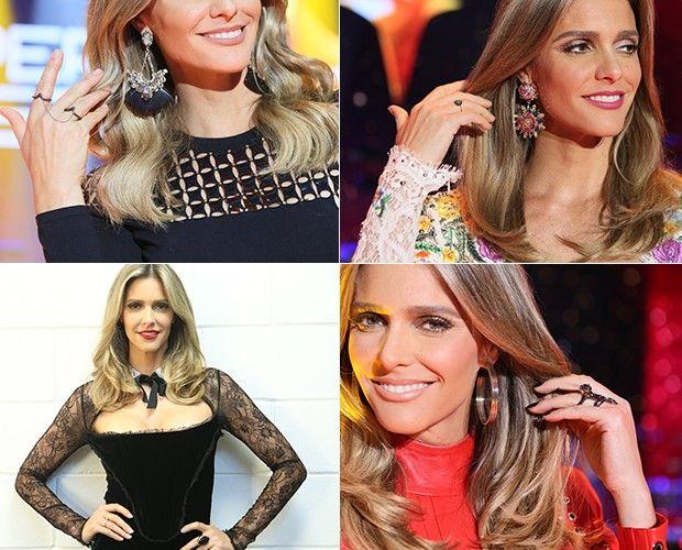 Fernanda Lima abusa na escolha dos acessórios. Brincos, anéis, gargantilhas, braceletes, gargantilhas ♥