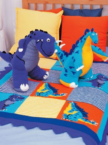 Dinosaurs Blanket | Yarn | Free Knitting Patterns | Crochet Patterns | Yarnspirations