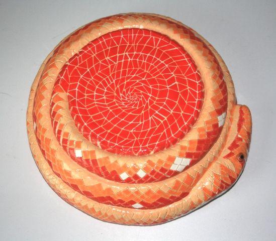 Handmade Ceramic Snake Bowl Bottom