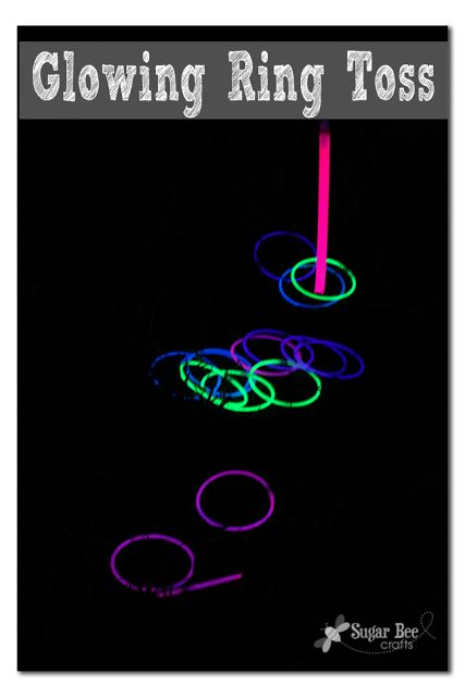 how to make your own Glowing Ring Toss - - super fun outdoor game for this summer ~ Sugar Bee Crafts