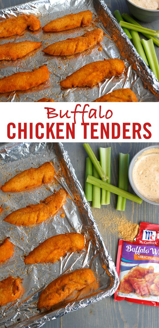 Looking for a kid-friendly, sheet pan meal? Fast flavorful chicken tenders are made easy and delicious with our Buffalo Wings Seasoning Mix. These baked chicken tenders are great in a tortilla wrap with lettuce, tomato and ranch dressing or serve on mixed greens to make a hearty dinnertime salad recipe.