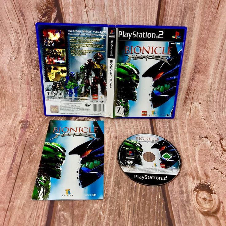 Ps2 video Game Bionicle Heroes Lego PlayStation 2 Lego Eidos TT games official