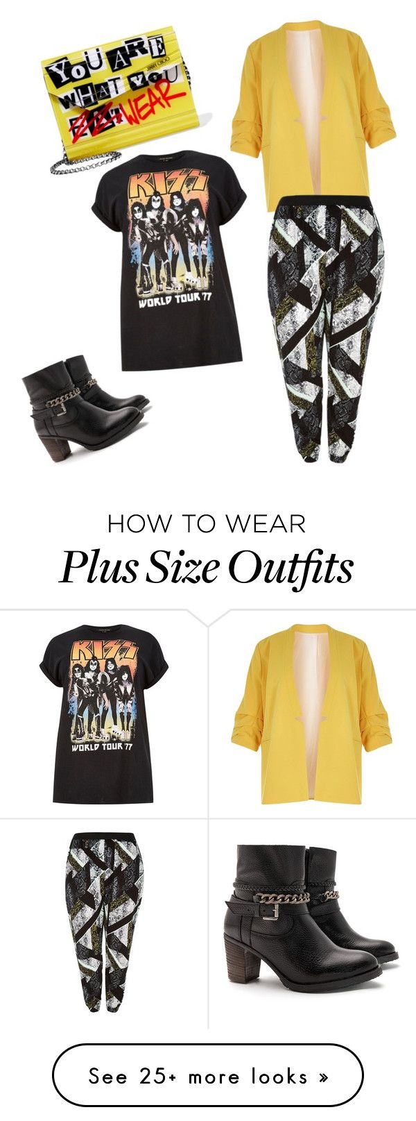 """Plus size rock star"" by adonicast on Polyvore featuring River Island, JJ Footwear and Jimmy Choo"