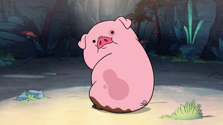 Waddles  es el cerdo mascota de Mabel, quien lo ganó en la feria. Desde ese entonces los dos han sido inseparables. Se muestra que Waddles disfruta pasar el tiempo con Mabel, tanto como a ella le gusta pasar tiempo con él.