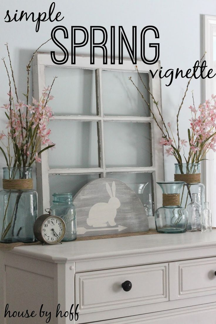 how to decorate for spring via housebyhoff.blogspot.com
