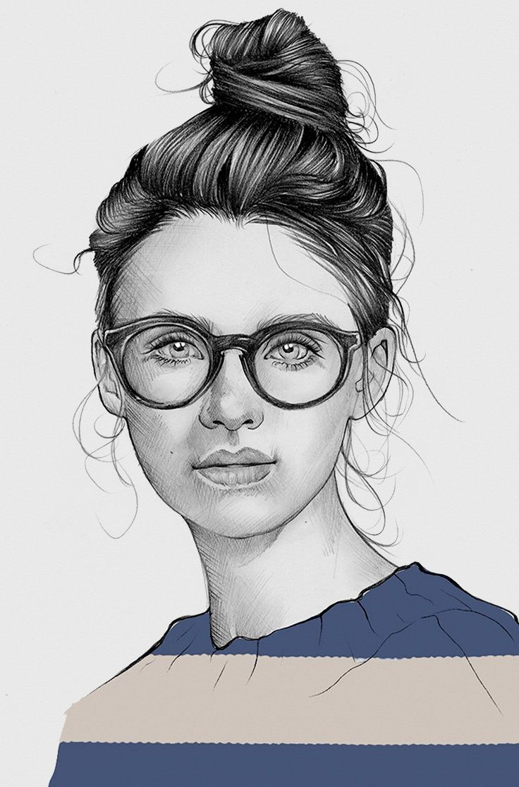 Line Drawing Female Face : Best my portrait drawings images on pinterest faces