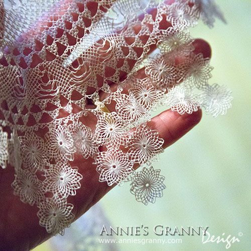 Armenian Bebilla Lace, detail from doily, at Annie's Granny