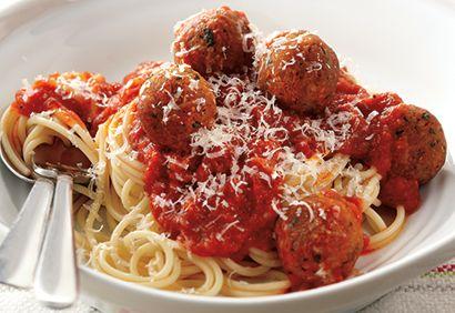 Spaghettis aux boulettes de tofu
