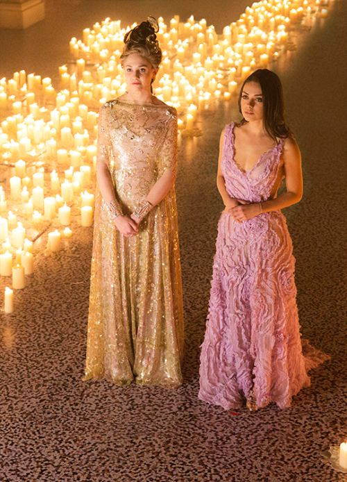 Tuppence Middleton and Mila Kunis in 'Jupiter Ascending' (2015).