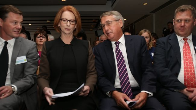 Last year these 2 incompetents promised numerous times to return the budget to surplus. Now this is what they say:  PRIME Minister Julia Gillard has declared that decisions about the nations finances are so grave and urgent every option is on the table at the Budget - even those previously off the table. Confirming newspaper reports today, Ms Gillard told a forum in Canberra the government's revenue had slid $12 billion since the last budget update in October.