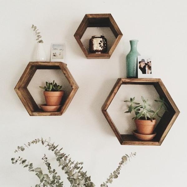 Threshold™ Hexagon Wall Cube set of 3 - Graywash