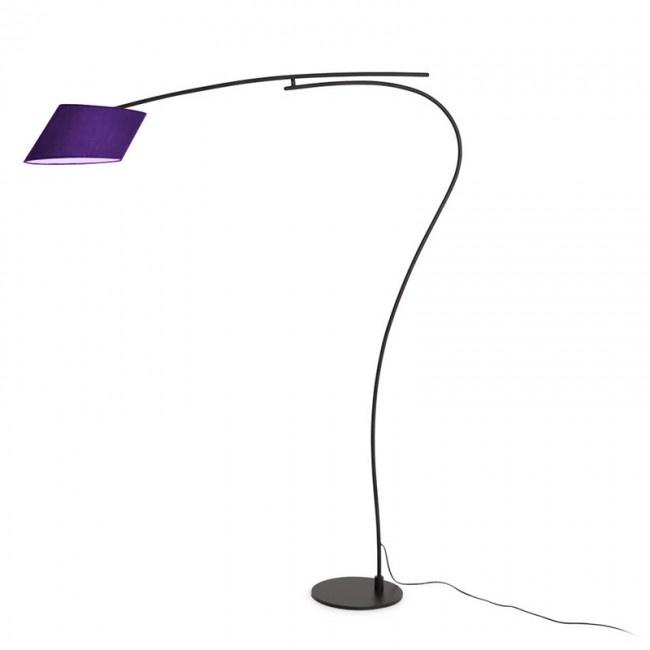 Swan Purple Floor Lamp