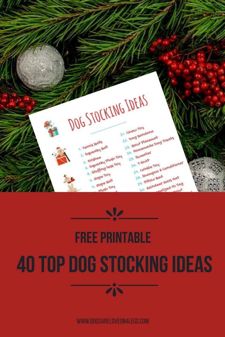 Are You Looking For The Perfect Gift For Your Dog? Then You'll Love This FREE Printable List of Dog Stocking Ideas.