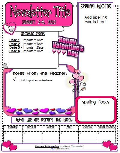 Best Newsletters For The Classroom Images On