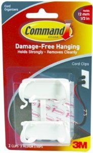 """6PK 3M 17303 Command Adhsv Cord Clip White Lg 2Pk by 3M. $46.36. 6PK 3M 17303 Command Adhsv Cord Clip White Lg 2Pk""""For offices, home office and entertainment areas. Organizes cords for orderly appearance and keeps cords safely out of the way. Removes cleanly, no surface damage. Size: Large. Color: White."""""""