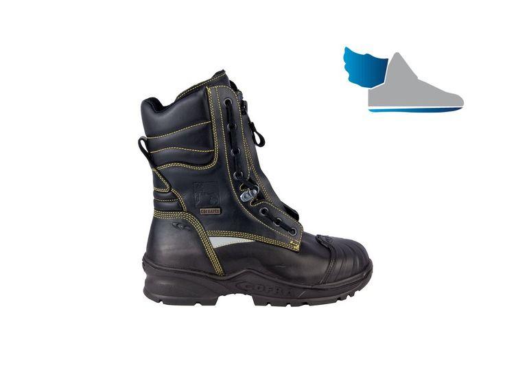 Čierna, vysoká, zimná pracovná obuv  SPRINKLER F2A CI HI3 SRC  aj do extrémne ťažkých pracovných podmienok.