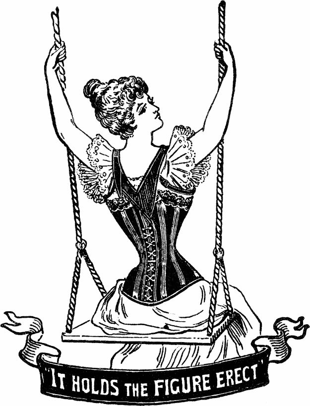 Antique corsetry illustration/advert.
