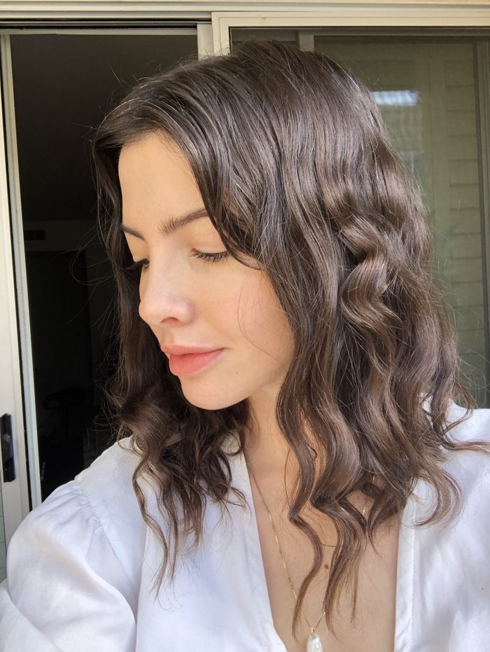 These Tiktok Famous No Heat Curls Only Require A Pair Of Tights So I Tried Them Curling Fine Hair Curls No Heat Damp Hair Styles