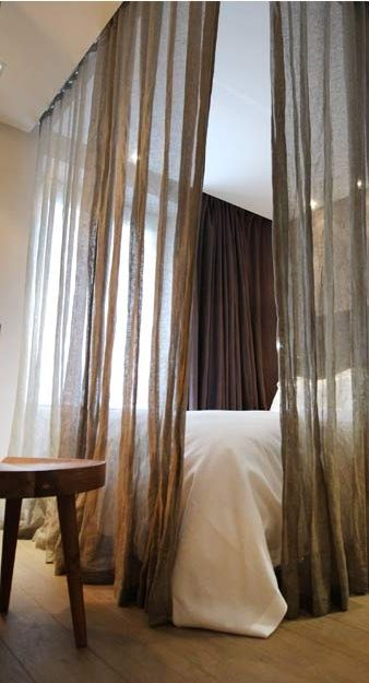 sheer curtain canopy bed.