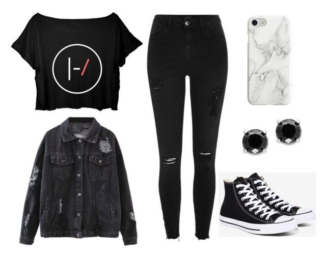 """Teen Wolf Amelia - Monstrous"" by jemjem21 on Polyvore featuring River Island, Converse, Effy Jewelry and Recover"