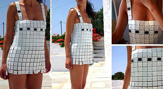 DAY FOR NIGHT SOLAR POWER DRESS, based off Paco Rabanne, designed by Despina Papadopoulos at Studio 5050
