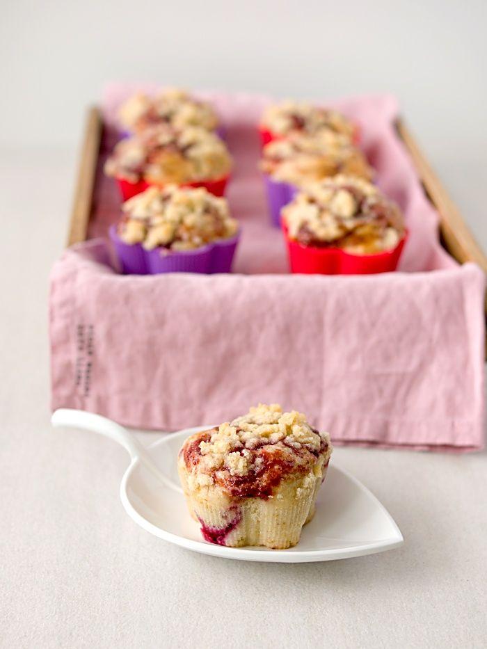 Pradobroty: Malinové muffiny s drobenkou