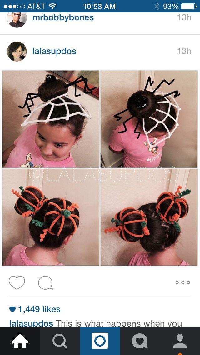 Little girl Halloween hair