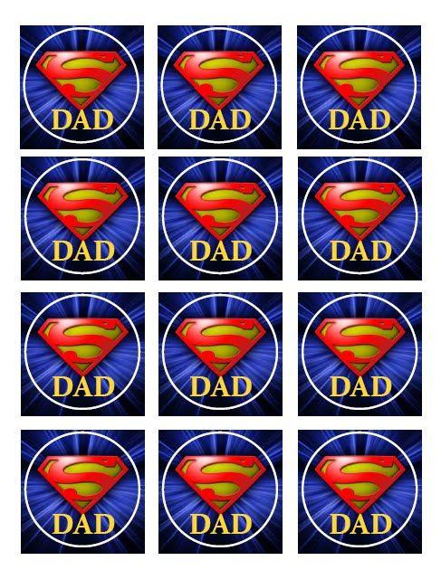 Joyful Creations: Super Dad Cupcake Toppers - Free Printable