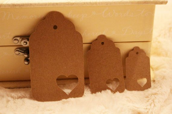 Heart Escort/Gift Tags  Perfect for by SillyLoveSongCustoms