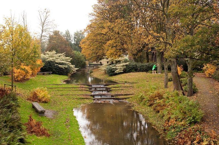 Cultuurpark Westergasfabriek, showing the biomass during the first period of autumn - Amsterdam, Netherlands