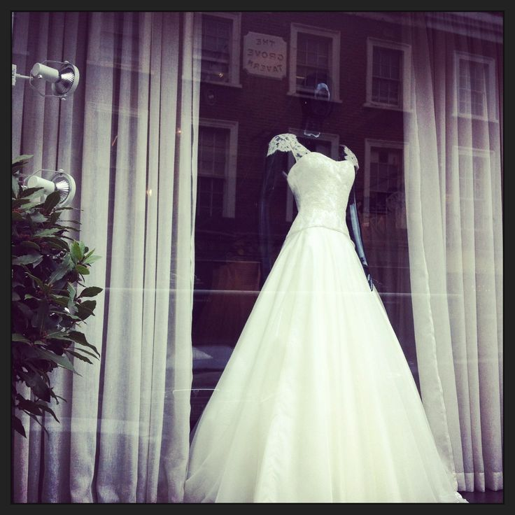 The window at 17 Beauchamp place - SP Bridal Boutique.