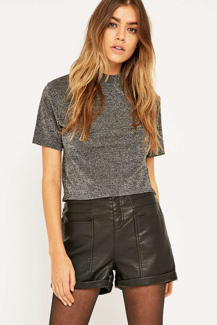 Urban Outfitters Vegan Leather '70s Shorts