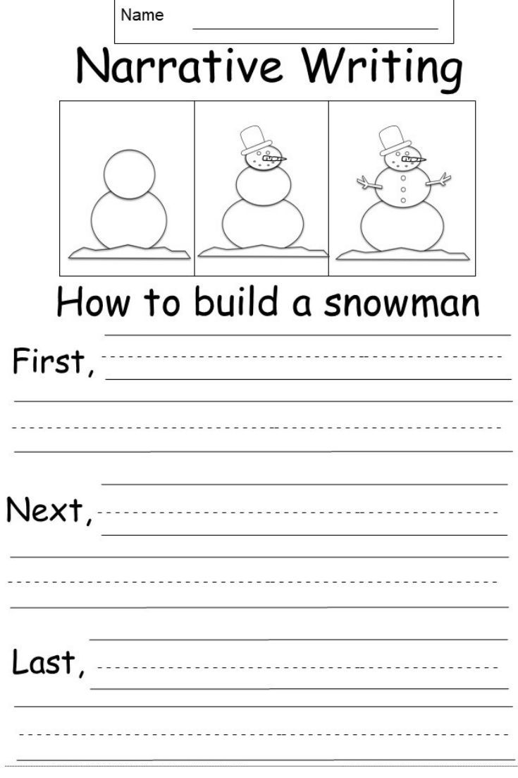 This Is A Free Kindergarten Narrative Writing Prompt Worksheet Students Will Write About T Narrative Writing Elementary Writing Narrative Writing Kindergarten
