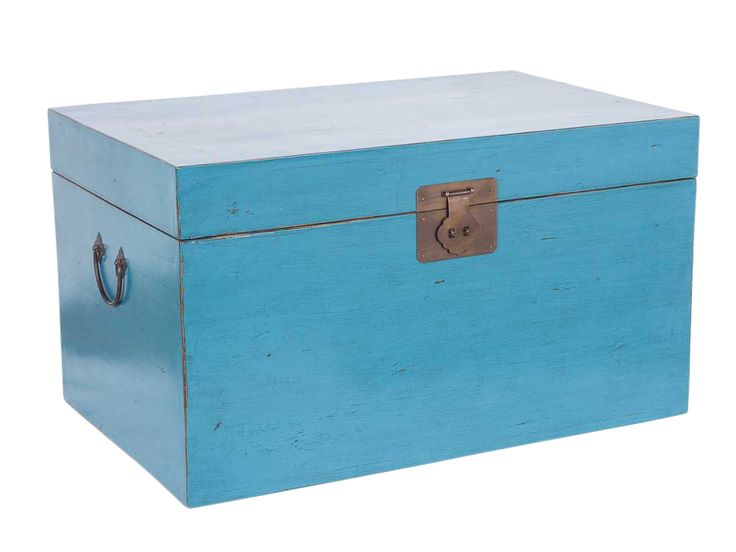 Limited Edition Tanner Vintage Chest -  available in Turquoise, Indigo, Light Cloud.