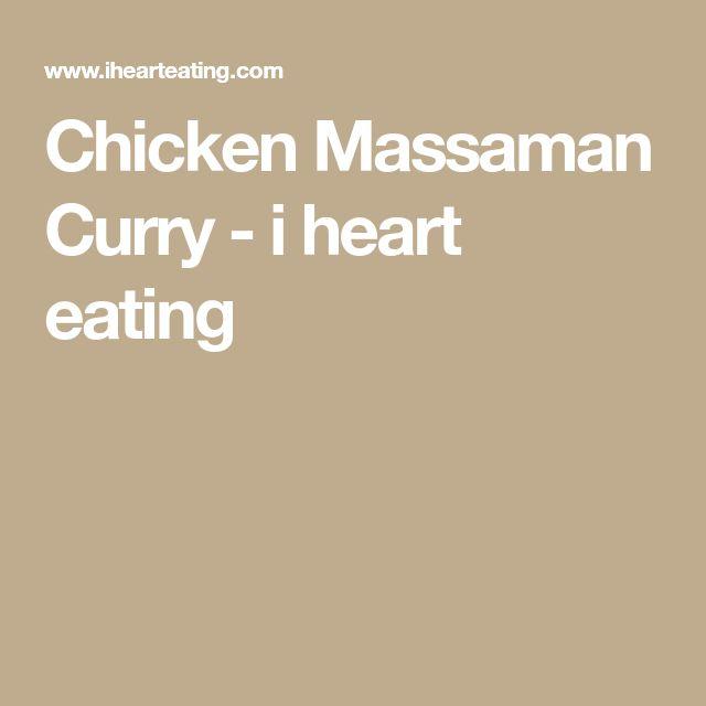 Chicken Massaman Curry - i heart eating