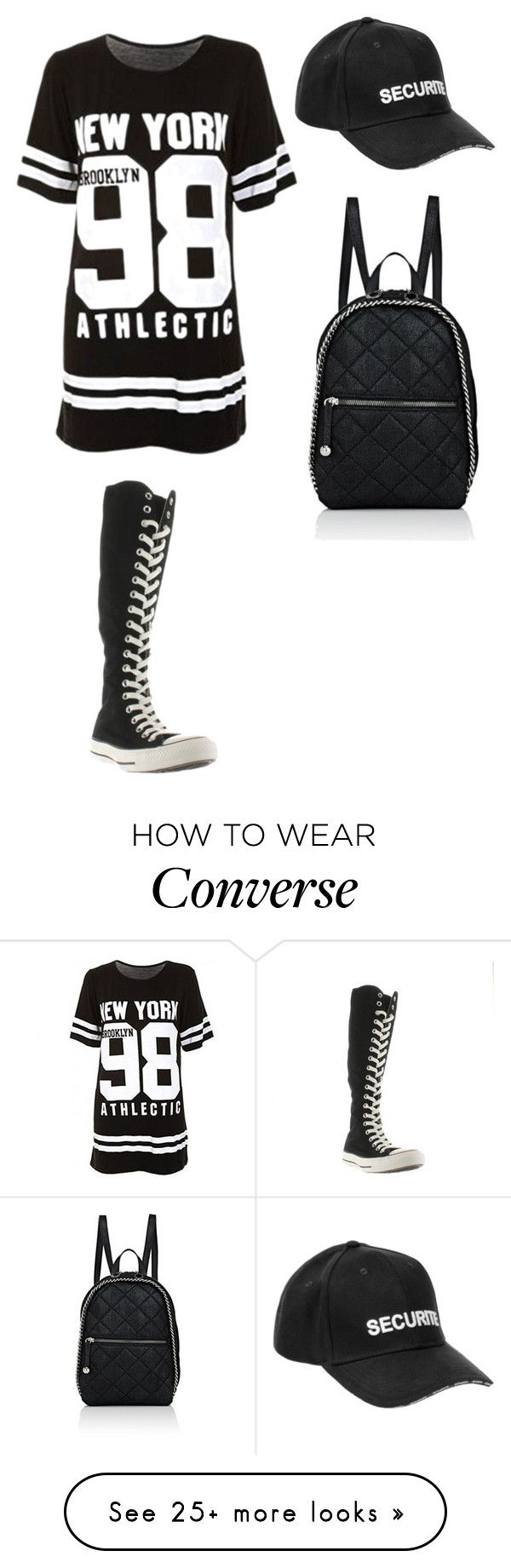 """Без названия #839"" by gazieva-dinara on Polyvore featuring Vetements, Converse and STELLA McCARTNEY"