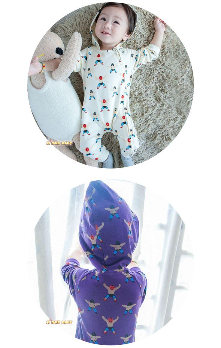 【楽天市場】c0204 メール便対応可能「ベビーロンパース 帽子付き」小人の柄 ベビーロンパース オールインワン 長袖 前開き:JIMAXBABY