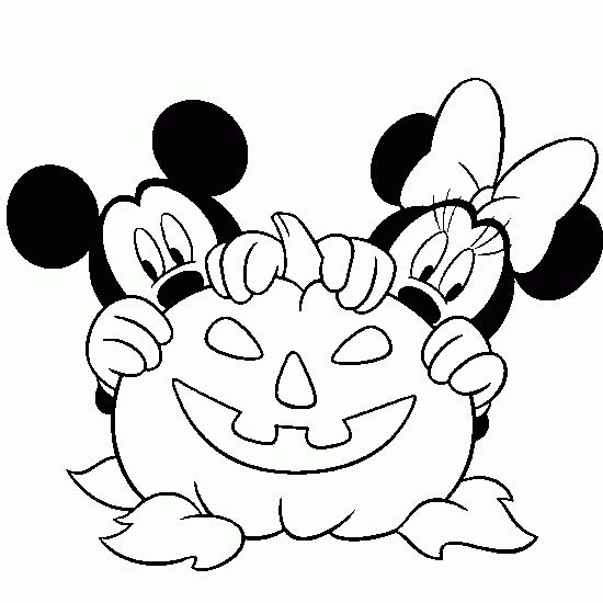 page with hundreds of halloween coloring pages including many disney ones such as this great one - Coloring Stencils