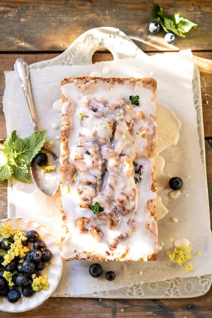 Swirled Blueberry Lemon Thyme Cake Half Baked Harvest Recipe Half Baked Harvest Recipes Harvest Recipes Half Baked Harvest