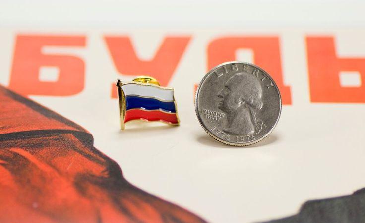 "RUSSIAN SOUVENIR  Badge ""Flag Of Russia"""