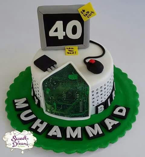 Computer engineer programmmer technician cake by #sweetdreamsbyrania