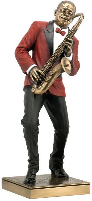 Jazz Saxophone Player Figurine Sculpture Statue-Home Décor-Music Related Gifts-Available for Sale at AllSculptures.com