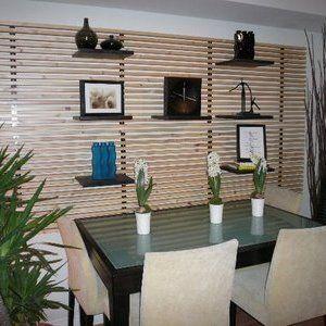 Testiera letto Ikea mandal per creare una parete attrezzata in soggiorno