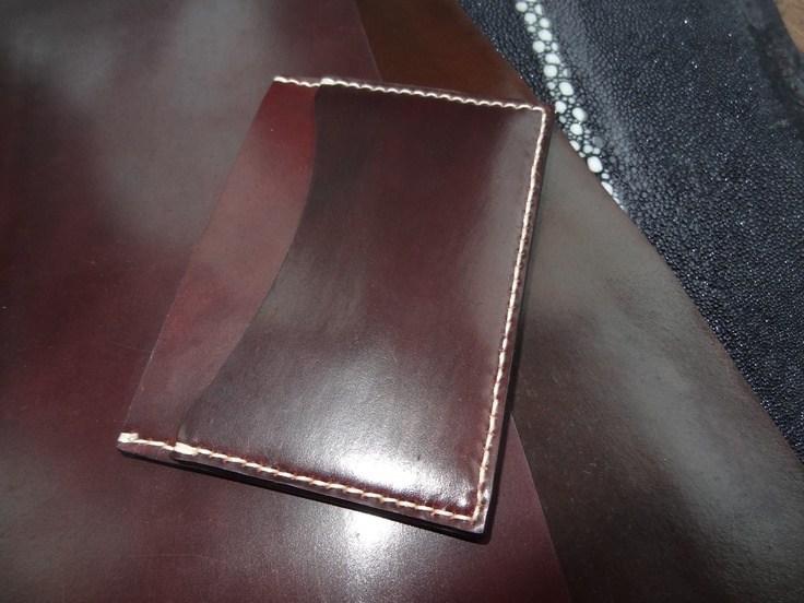 Horween Shell Cordovan Card Case. $120.00, via Etsy.