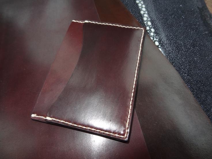 Horween Shell Cordovan Card Case. $120.00, via Etsy.