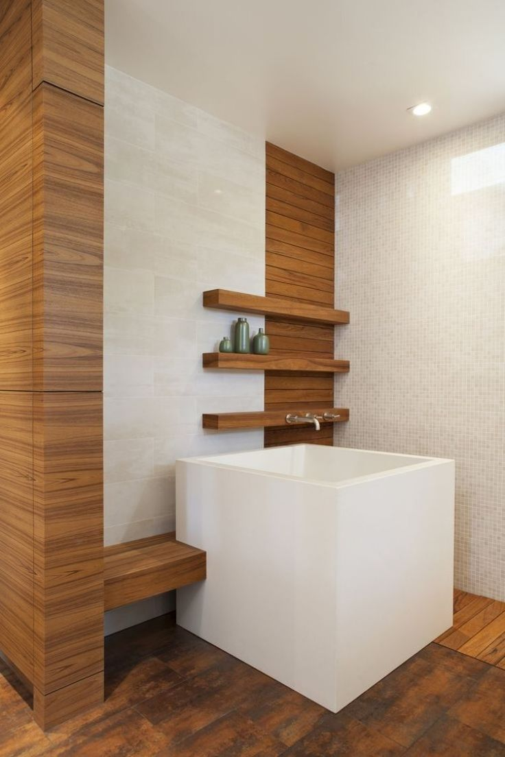 Quadratische keramik ofuro badewanne für das moderne bad