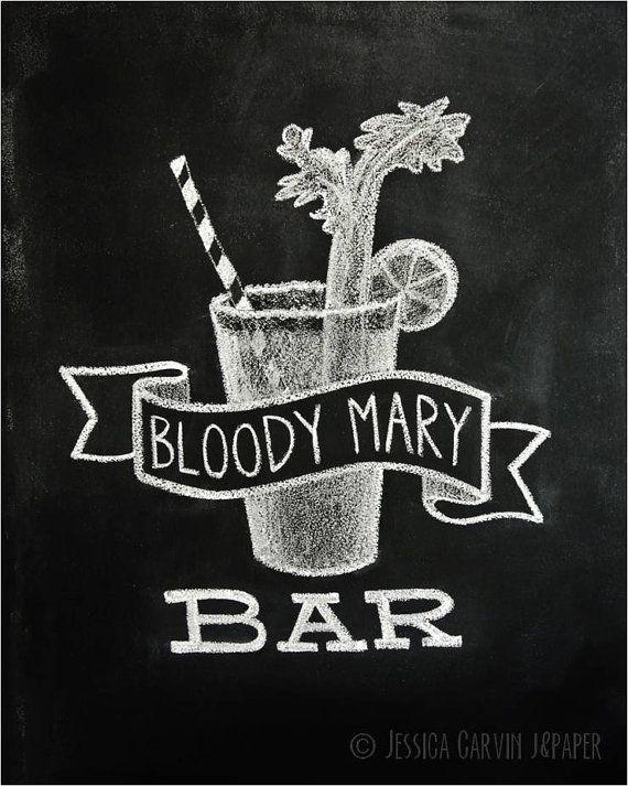 Chalkboard Print - Digital File 8x10 - Bloody Mary Bar @Hannah McLendon